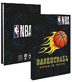 LPD - Quaderno per testo, motivo: BASKET NBA, 15 x 21 cm