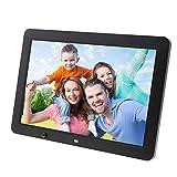 NGB Digital Photo Frame 1366 * 768 High Resolution Display MP3 Video Image-Zyklus Kalender-Alarmuck mit Fernbedienung Unterstützung USB SD Card, Schwarz, Geschenkwahl,Black,8inches