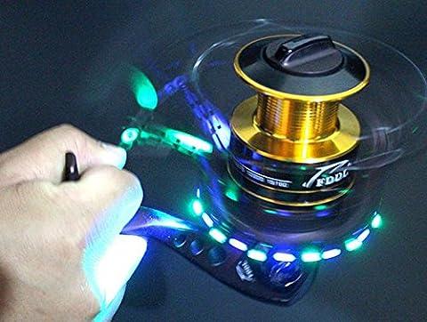 bntteam LED-Licht der Fischerei Rollen Luminous Metall Spinning Rollen Angeln Rad 10+ 1BB links/rechts austauschbar Lure Nacht Angeln Gear, 4000
