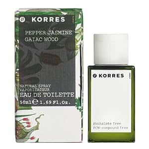 Korres Unisex Pepper, Jasmine and Gaiac Wood Eau de Toilette Fragrance 50ml