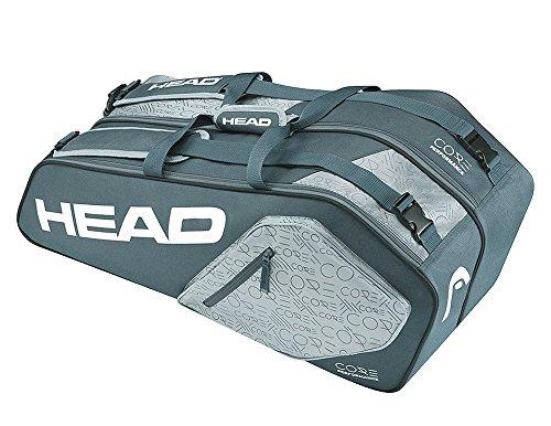 HEAD Core 6R Kombo-Tennisschläger-Tasche, für bis zu 6 Schläger, Unisex, Core 6R Combo, Anthrazit/Grau -