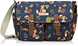 SWANKYSWANS Womens Freddie Fox & Squirrel School Satchel S501 Navy Blue