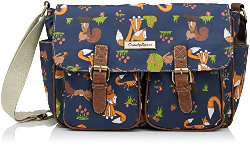 freddie-fox-squirrel-print-twin-pocket-school-satchel-bag