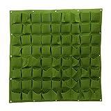 72bolsillos bolsas de plantación colgante de pared ecológico de jardinería maceta interior y exterior para vertical bolsas de crecimiento., verde