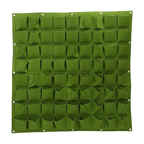 72 tasche di impianto alla parete sospensorio giardinaggio planter all'aperto coperta verticale greening grow borse ( colore : verde )