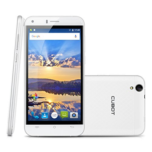 "CUBOT Manito 5"" 4G Smartphone Android 6.0 HD 1280*720, 1.3GHz MT6737 Quad-Core 64 bits Processor 3GB RAM/16GB ROM 8MP+1.3MP Camera Dual SIM Supporto Hotknot Intelligente Scia 2.5D Display+ 3D Guscio Posteriore,Bianco"