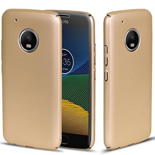 Conie Motorola Moto C Hülle, Gold [Style Series] Soft Flex Case Ultradünn handyhüllen PC Bumper Cover Schutz Tasche Schale Schutzhülle für Moto C hartschale dünn, Motorola Moto C (5,0 Zoll (12,7 cm)