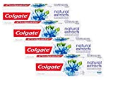 Colgate Naturals Extracts Sal Marina Dentífrico - 4 Recipientes de 75 ml - Total: 300 ml