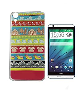 Exclusive Printed Soft Silicon Back Case Cover For HTC Desire 820S - Tribal Art Design