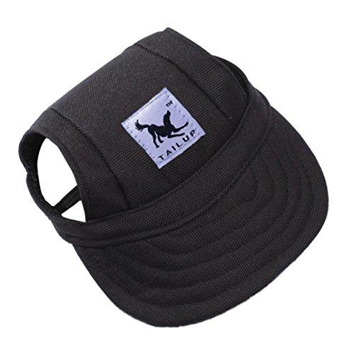 Wuayi Tailup Kappe für kleine Tiere, ideal für den Sommer, Basballschirm, Leinenkappe
