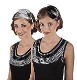 Charleston Flapper Kopfschmuck 20er Jahre Royal Haarschmuck Partyschmuck (weiß)
