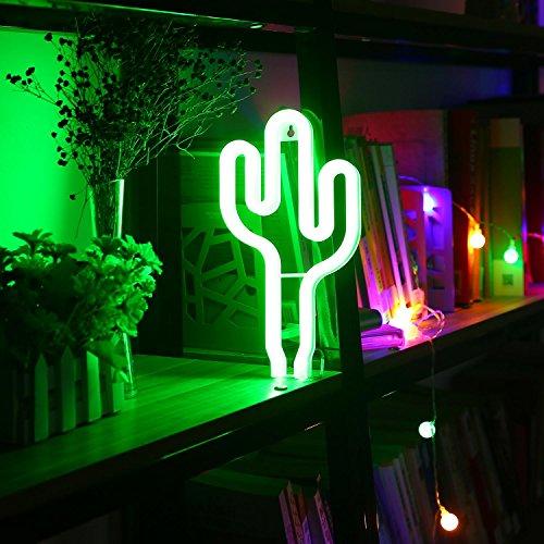 Signs Night Lights LED Lampe Dekorative Lichter Wand Dekor Nachtlicht für Schlafzimmer Hochzeit Bar Hotel Strand Freizeit Dekoration (Kaktus Dekor)