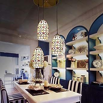 Lampada Tiffany Corridoio Corridoio Shell Lampada Lampadario Chandelier Sala Balcone Bar 5 Pollici Ciondolo Doppio Perla Del Fiore
