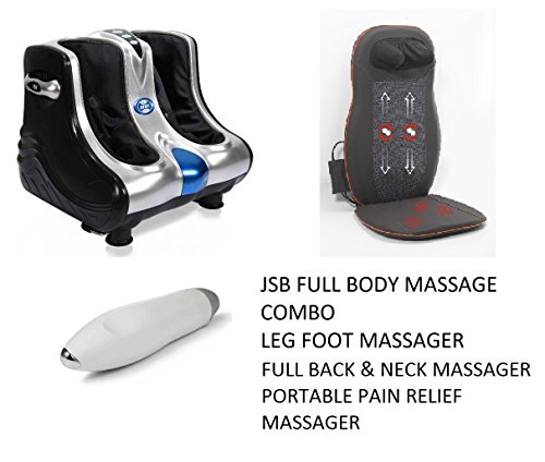 JSB HF05 Leg Foot Massager + JSB HF23 Full Back and Neck Massager + JSB HF56 Portable Pain Relief Massager (Full Body Massage Combo)  available at amazon for Rs.19999