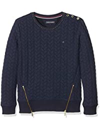 Tommy Hilfiger Cable Quilted Cn Hwk L/s, Sweat-Shirt Fille