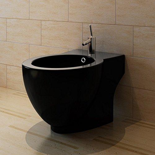 vidaXL Standbidet Stand-Bidet Bodenstehend Bidet Design Keramik schwarz fürs Badezimmer