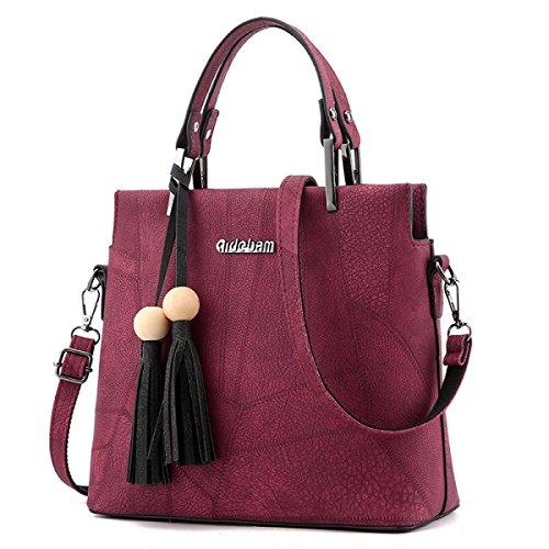 Damen Handtaschen Umhängetasche Messenger Bag Damen Tasche Mode Casual Korean Version Temperament Elegant E
