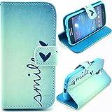 Voguecase® Samsung Galaxy S4 mini I9190, I9192, I9195 Elegante borsa in pelle Custodia Case Cover Protezione chiusura ventosa (mile) Con Stilo Penna