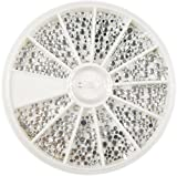 RM Beautynails Strasssteine im Rondell rund groß und klein in Silber
