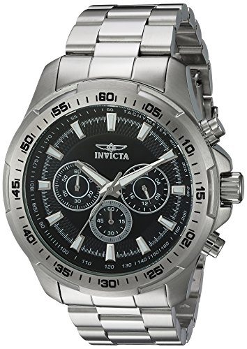 Invicta Men's 'Speedway' Quartz Stainless Steel Casual Watch, Color:Silver-Toned (Model: 22780) image
