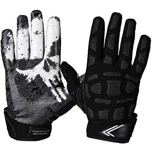 Leicht gepolsterte Multiposition Football Handschuhe Full Force Player - schwarz Gr. XL