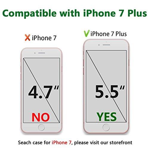 iPhone 7Plus Paillettes liquide Coque, i7Plus Coque rigide souple TPU Edge Coque Bling, CE iPhone 7Plus NEUF Cool 3d de luxe Creative liquide dynamique Paillettes Coque, Sparkle cœurs étoiles Diama TPU 11