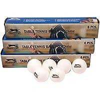 Slazenger - Juego de 24 Bolas de Tenis de Mesa de plástico para Entrenamiento con Logotipo (40 mm de diámetro), Color Blanco