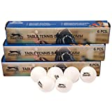 Slazenger Set of 24 Table Tennis Ping Pong Balls Plastic White Plain Sports Training Ball With Logo 40mm Diameter - Pack of 24