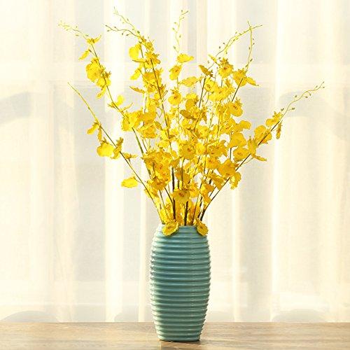 SE7VEN Décoration de vase en porcelaine/simulation fleur décor fleur art-F