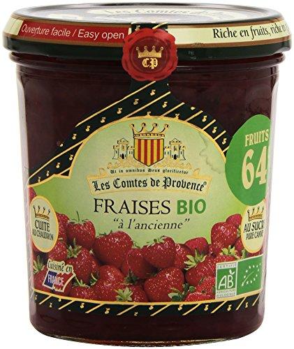 Les Comtes De Provence Fraise Bio 0.64 Teneur en Fruits le Pot 350 g - Lot de 3