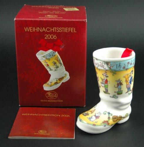 Hutschenreuther Weihnachtsstiefel 2006*Rarität*Neu, Weihnachten, Baumanhänger, Porzellanstiefel, Baumschmuck, Anhänger, Stiefel -