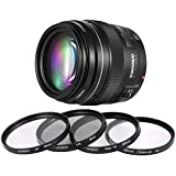 YONGNUO YN100mm F2 moyen premier téléobjectif 100mm fixe ouverture F/2 ~ F/22 pour Canon EOS appareil photo AF MF Mode avec Andoer 58 mm lentille Kit filtre (UV + CPL + étoiles + 8 + Close-up + 4)