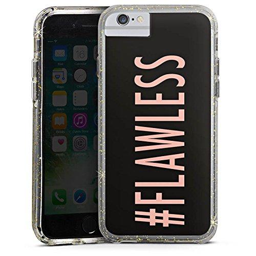 Apple iPhone 8 Bumper Hülle Bumper Case Glitzer Hülle Flawless Beyonce Hashtag Bumper Case Glitzer gold