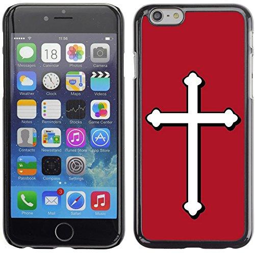 Graphic4You Kreuzr Design Harte Hülle Case Tasche Schutzhülle für Apple iPhone 6 Plus / 6S Plus (Aqua Blau) Rot