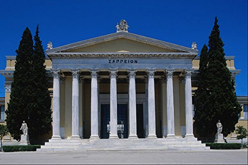 806052 Zappeion Against Blue Sky With Polarized Filter Athens Greece A4 Photo Poster Print 10x8