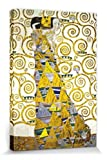 1art1 57205 Gustav Klimt - Die Erwartung, 1905-1909 (Detail) Poster Leinwandbild Auf Keilrahmen 120 x 80 cm