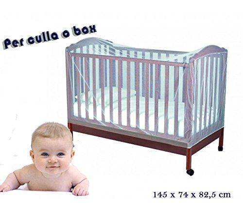 Zanzariera universale per culle lettini e box 145 x 74 x 82,5 cm Mosquito Net. MWS