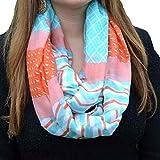 loopsc collana da donna, Absolute donne disegno geometrico Stampa Infinito singolarmente sciarpe sciarpa scaldacollo 90*180cm Himmelblau