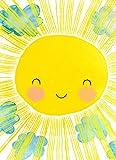 """JUNIQE® Leinwandbild 20x30cm Kinderzimmer & Kunst für Kinder - Design """"Matahari"""" (Format: Hoch) - Leinwand, Bilder auf Leinwand & Leinwanddrucke von unabhängigen Künstlern - Kinderbilder & Kunst für's Babyzimmer - entworfen von treechild"""