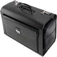 Alassio 949728 - Black Leather Pilot Briefcase