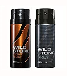 Wild Stone Night Rider And Grey Deodorant For Men (150 ML)
