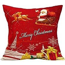 Fami Natale cuscino federe divano tiro copre decorazioni per la casa S