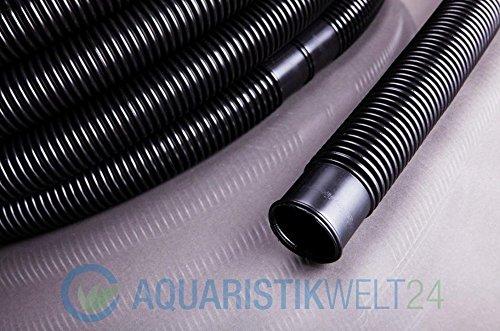 15 Meter 38mm 1 1/2\' Solarschlauch Schwarz Poolschlauch Muffenabstand 1,5m Schwimmschlauch Saugschlauch Pool Schlauch