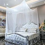 GA Homefavor Moskito Netz, 4 eckiger Baldachin inkl. Aufhänge Set und Tragetasche