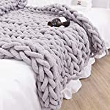 Mantellinie,Wolle Garn Wolle Roving Häkeln Soft Bulky Arm Stricken DIY Hand Chunky Strickdecke Decke Garn für Riese Klobig Sticken Werfen Sofa Decke