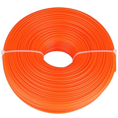 Zerodis 2,4mm Débroussailleuse Ligne en Nylon Fil Cordon Fil Rond Coupe-Bordures en Bobine Tondeuse à Gazon de Remplacement Tondeuse à Outils