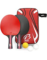 Tencoz Table Tennis Set, Portable Retractable Table Tennis Racket Ping Pong Set/Net Replacement Ping Pong Accessory