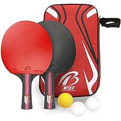 Tencoz Raquette de ping-Pong, Raquette de ping-Pong Professionnel Set De Tennis De Table + Sac de Rangement Raquette De Tennis De Table