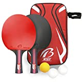 Tencoz Raquette de ping-Pong, Raquette de ping-Pong Professionnel Set De Tennis De Table + Sac de Rangement Raquette De Tennis De Table
