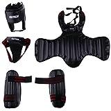 Homyl Schutzausrüstung Set für Kickboxen, Kampfsport, MMA, Karate, Taekwondo - Schwarz